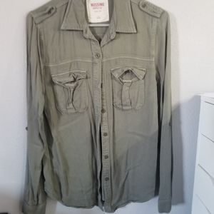 Mossimo Olive Green Button Down Shirt
